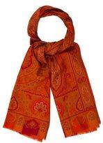Etro Printed Wool Blend Scarf
