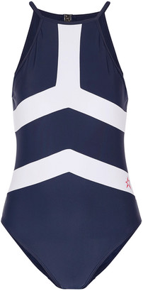 Perfect Moment Nordic Open-back Two-tone Swimsuit