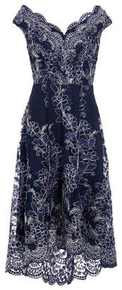 Dorothy Perkins Womens *Quiz Navy Lace Dip Hem Skater Dress, Navy