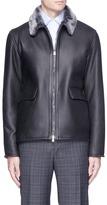 Isaia Shearling coach jacket