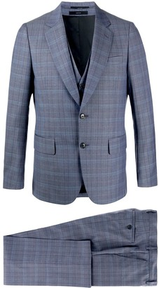 Paul Smith Plaid Print Three-Piece Suit