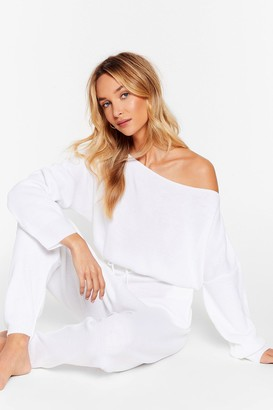 Nasty Gal Womens Serious Chills Sweater and Joggers Lounge Set - Cream