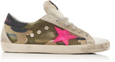 Golden Goose Superstar Distressed Leather and Canvas Sneakers