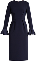 Roksanda Izumi fluted-sleeve contrast-back crepe dress