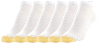 Gold Toe Women's No Show Sport Socks with Arch Support White Shoe Size: 6-9
