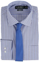 Lauren Ralph Lauren Striped Oxford Spread Collar Classic Button Down Shirt