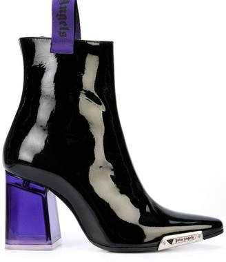Palm Angels patent ankle boots