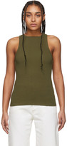 A Gold E Agolde AGOLDE Khaki High-Neck Tank Top