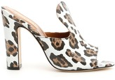 Paris Texas Animal Print Open Toe Mules