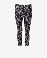 Express blurred print EXP core compression crop legging