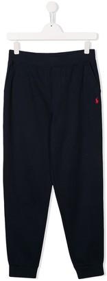 Ralph Lauren Kids TEEN embroidered logo track pants