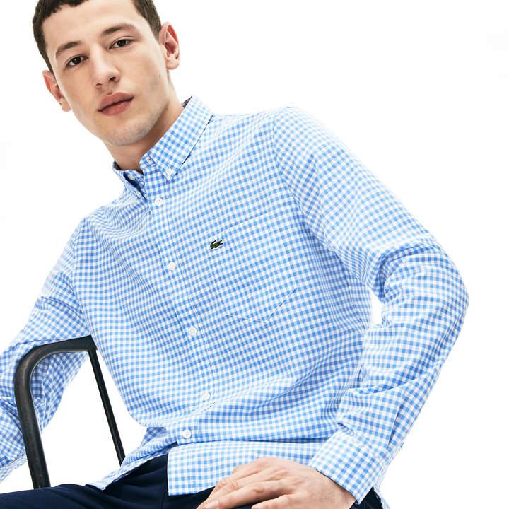 fa05d31612 Men's Regular Fit Mini Check Poplin Shirt