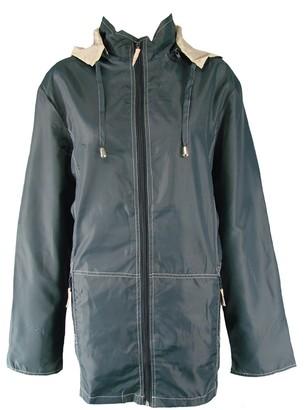 Damart Ex Navy & Beige Lightweight Raincoat Rain Jacket-Large