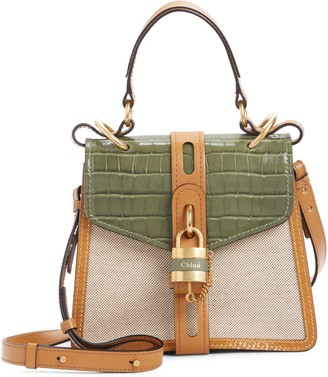 Chloé Aby Small Day Canvas Shoulder Bag