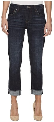 KUT from the Kloth Amy Crop Straight Leg-Roll Up Frey Jeans (Acknowledging/Euro Base Wash) Women's Jeans