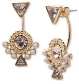 Givenchy 2MM Faux Pearl Floater and Gold Drop Earrings