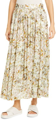Co Floral Print Maxi Skirt