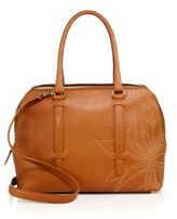 Agnona Calfskin Leather Crossbody Satchel