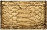 Alexander McQueen Bronze Python Card Holder