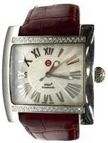 Michele Stainless Steel & Pearl White Dial 36mm Unisex Watch