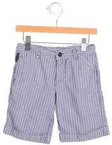Armani Junior Boys' Striped Cuffed Shorts