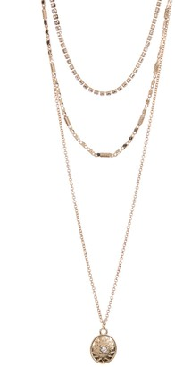 Area Stars Star Disc Layered Necklace Set