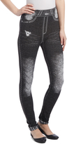 Black Distressed Knee Leggings