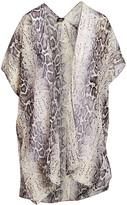 Lvs Collections LVS Collections Women's Kimono Cardigans GRAY - Gray Snake Kimono - Women