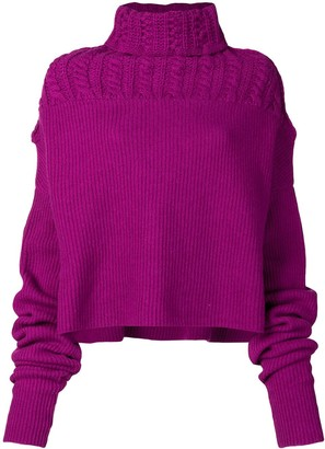 Unravel Project Turtle Neck Jumper