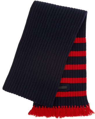 Prada Striped Wool and Cashmere Scarf