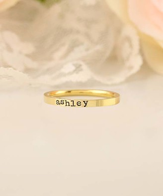 Designs By Karamarie Designs by KaraMarie Women's Rings customer - 14k Gold-Plated Personalized Name Ring