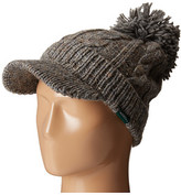 Woolrich Wool Blend Chunky Cable Knit Slouch Radar with Matching Pom