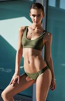 LA Hearts LUXE Sporty Seamless Cropped Bikini Top