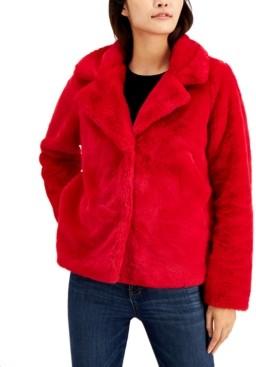 Joujou Jou Jou Juniors' Notch-Collar Faux-Fur Jacket