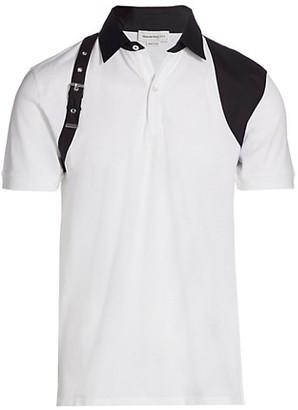 Alexander McQueen Shoulder Harness Polo Shirt