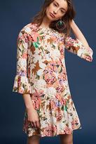 Kachel Zohra Silk Peplum Dress