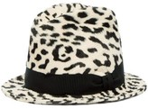 Dolce & Gabbana Leopard-print Faux-fur Fedora Hat - Womens - White