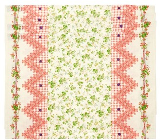 D'Ascoli Set Of Four Tidewater Floral-print Placemats - Green Multi