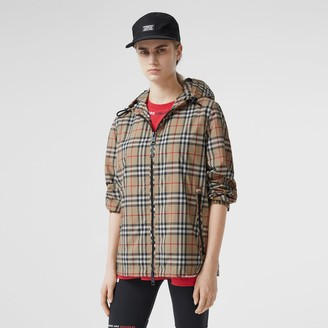 Burberry Vintage Check Recycled Polyester Hooded Jacket