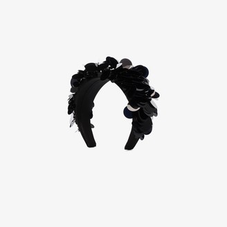 Prada Black Sequin Satin Headband