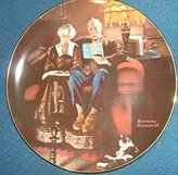 """Rockwell Norman """"Evening Ease"""" Rockwell's Light Campaign--Authentic Registered Collectible Plate"""
