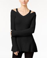 Style&Co. Style & Co. Petite High-Low Cutout Sweater, Only at Macy's