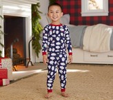 Pottery Barn Kids Penguin Tight Fit Pajama, Navy, 4