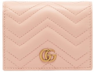 Gucci Marmont Quilted-leather Bi-fold Wallet - Womens - Light Pink