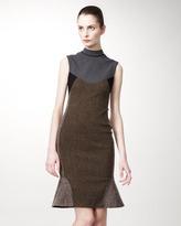 Stella McCartney Mixed-Fabric Sheath Dress