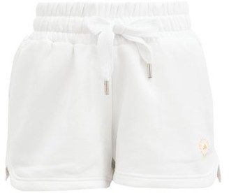 adidas by Stella McCartney Elasticated-waist Cotton-blend Shorts - White