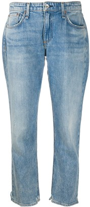 Rag & Bone Cropped Washed Jeans