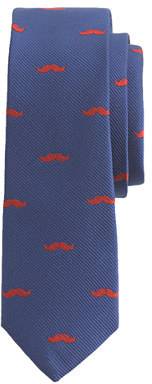 J.Crew Boys' blue silk tie in moustache print