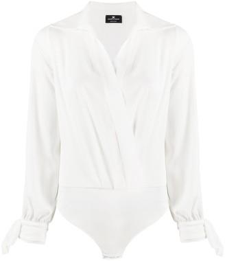 Elisabetta Franchi wrap blouse one piece