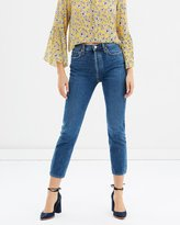 A Gold E Riley Hi Rise Straight Crop Jeans